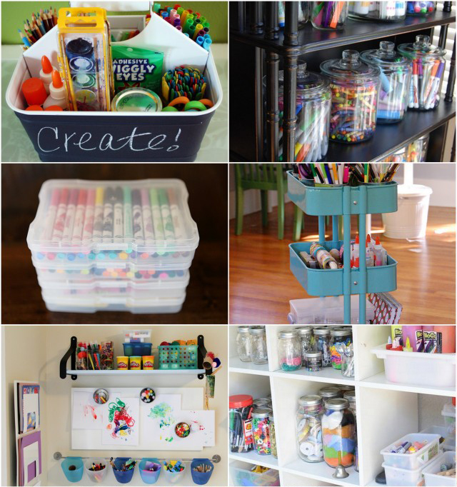 Minimalist Classroom Game ~ Best ways to organize art supplies modern parents