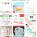 SUCH an amazing resource - over 90 pages of printables including routine charts, 1st day of school picture printables, school info. kids, menu planning, toy organization labels and tons more!