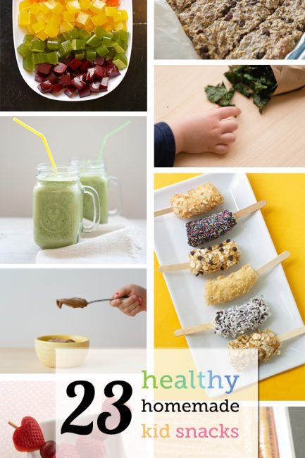 23 Healthy Homemade Kid Snacks