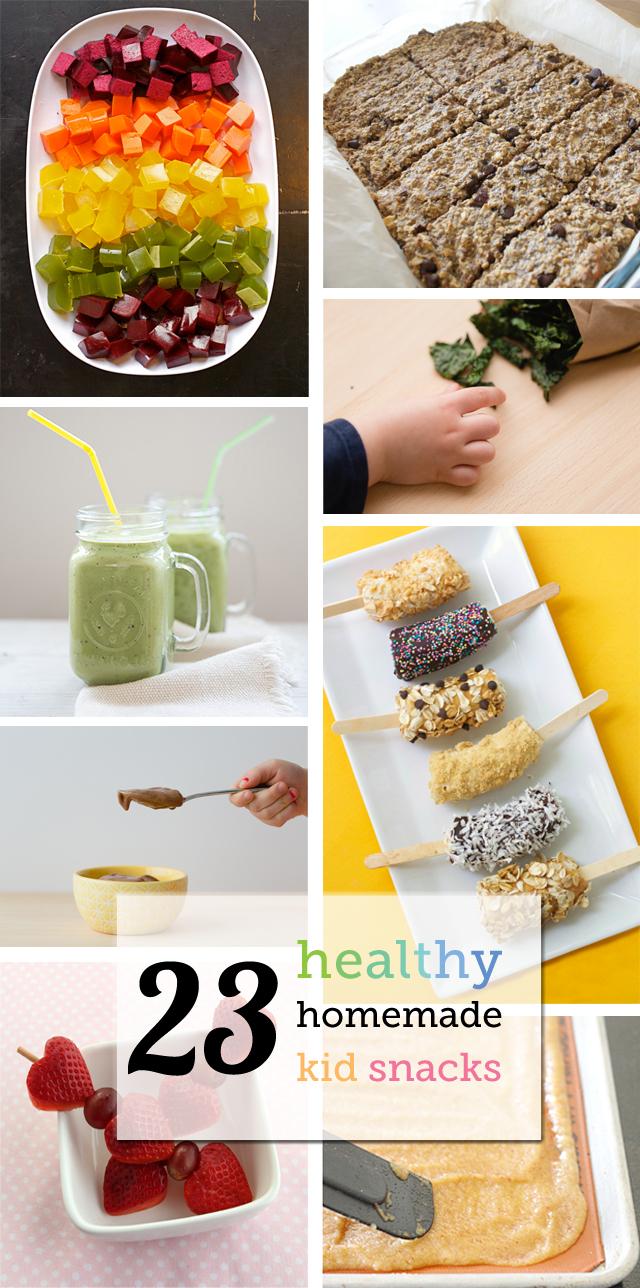 23 Healthy Homemade Kid Snacks