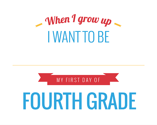 Adorable printable pack for back to school. Love the idea of capturing their dreams!
