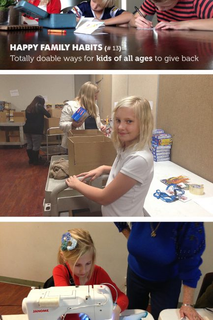 {Happy Family Habit #13}  Involving Kids in Giving Back