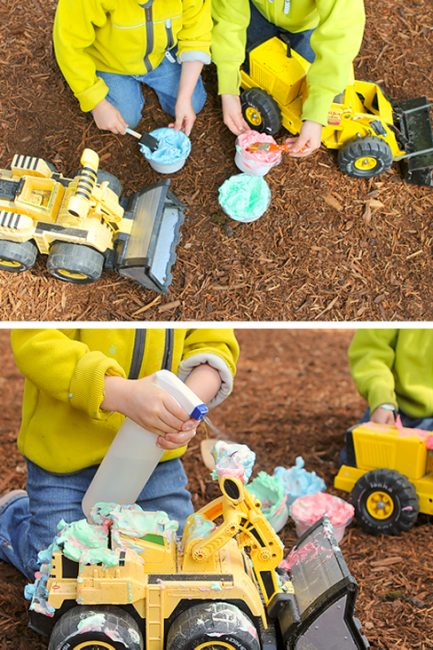 Outdoor Play Idea: Colorful Car Wash!