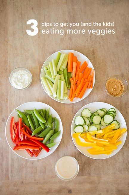 {In the Kitchen} Three Dips to Get Kids to Eat More Vegetables