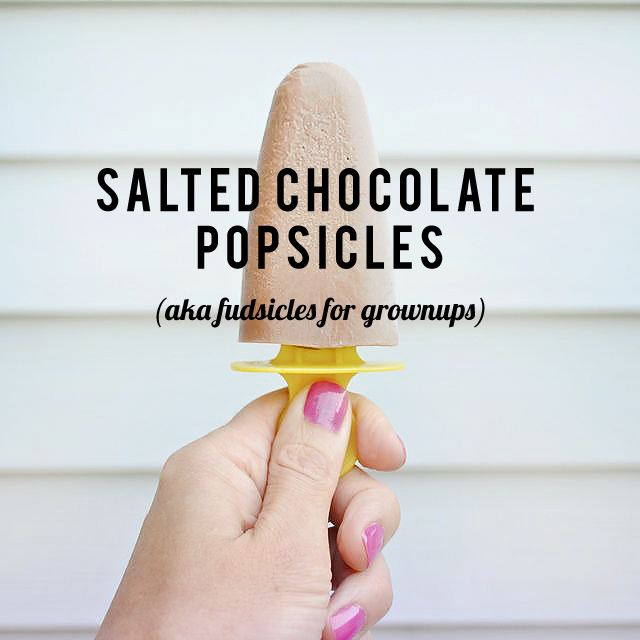 These fudgsicles for grown ups are delicious (but be careful because the kids will love them too!)