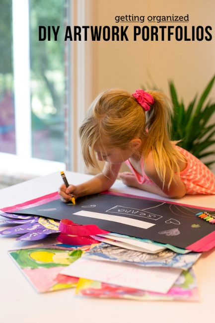 Keep Kids' Art Organized All Year with DIY Artist's Portfolios