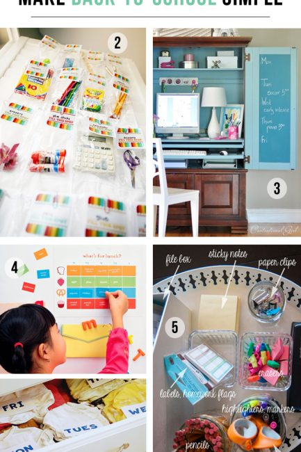 20 Organization Projects to Make Back-to-School a Breeze