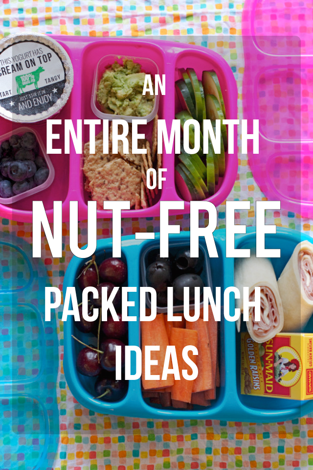 A Full Month Of Nut Free Lunches