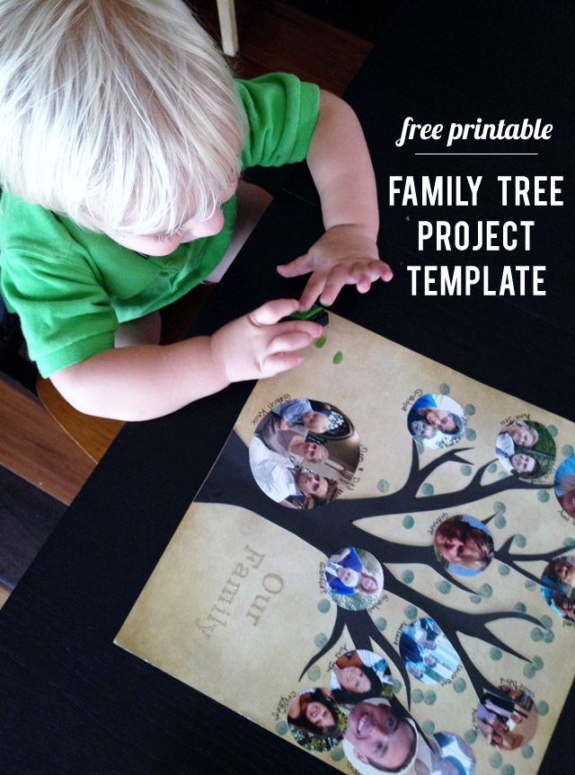 Free Printable Make A Photo Family Tree With This Free