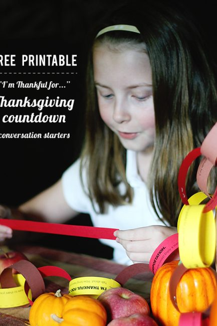 Free Printable: Thanksgiving Gratitude Conversation Starters