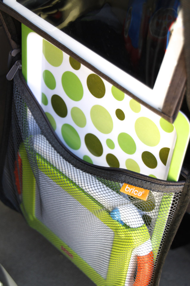 The best tips and products for driving around with happy kids - love that iPad holder!