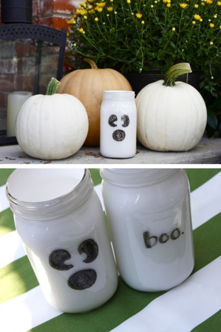 Halloween Craft: Dry Erase Ghost Votives