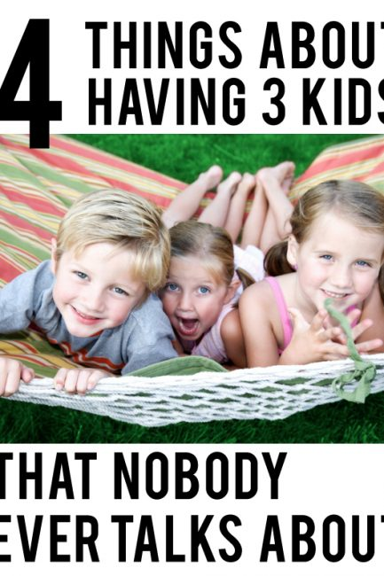 4 Things About Having 3 Kids (That Nobody Ever Talks About)