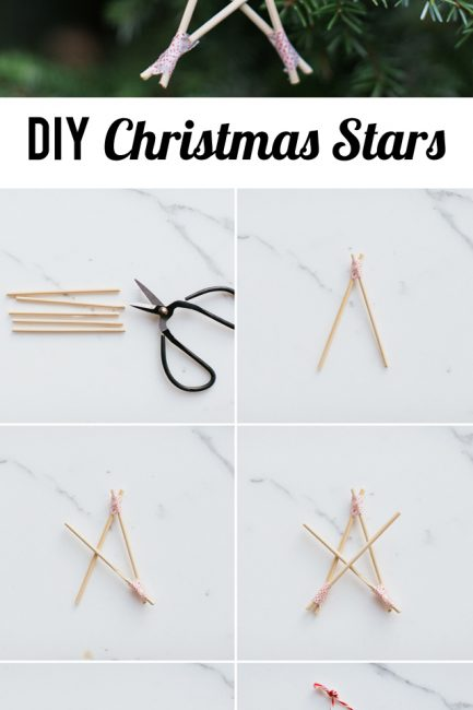 Kid Craft: DIY Washi Tape Christmas Stars