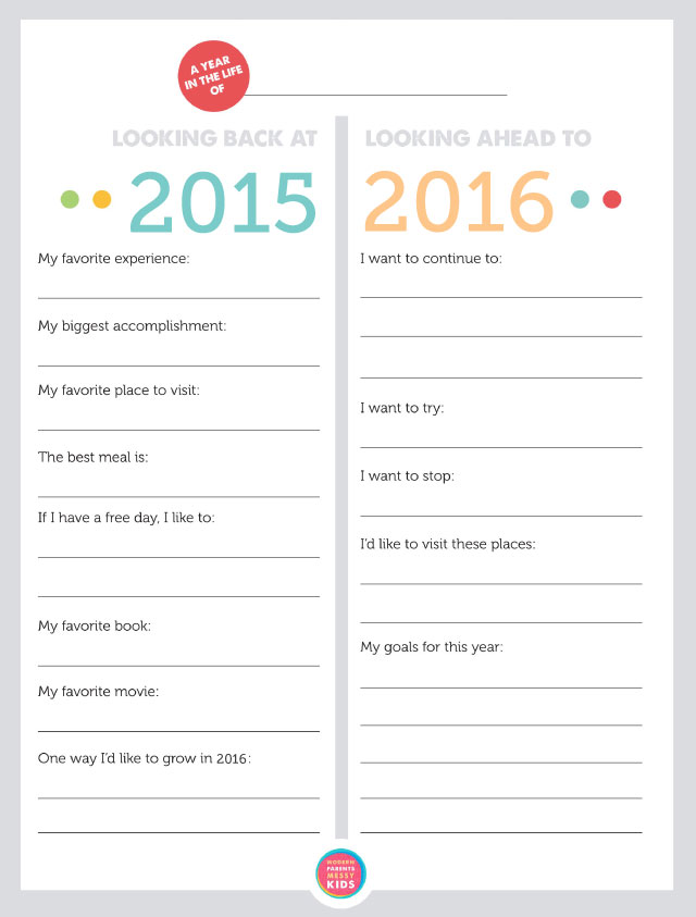 Free printable family new year 39 s resolutions year in for New years goals template