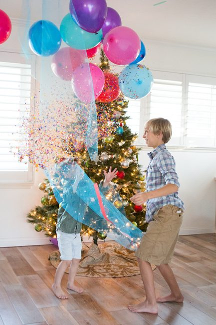 Family New Year's Eve Idea: DIY Balloon Drop