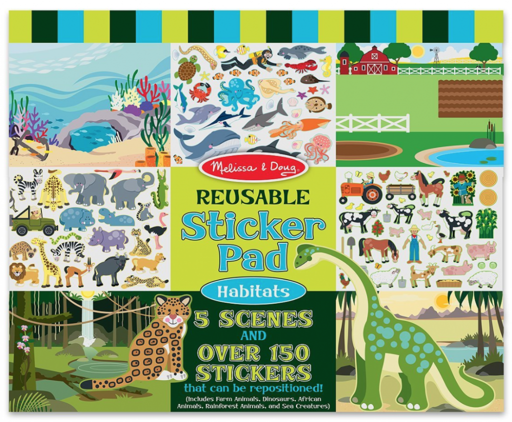 melissa u0026 doug reusable sticker books 424 3 u2013 10 years