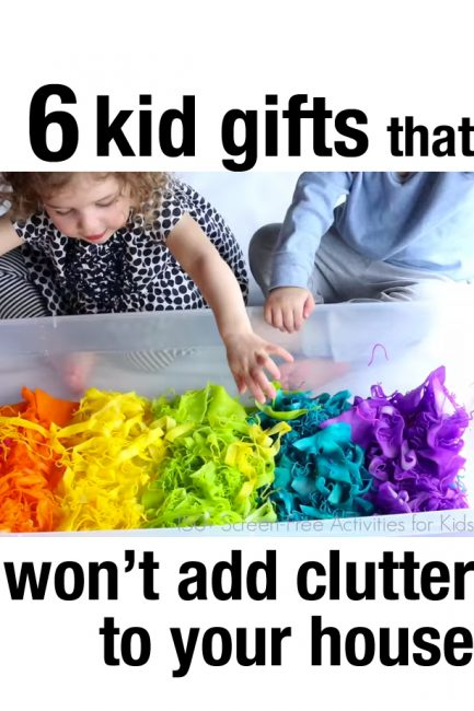 6 Kid Gifts that Won't Add Clutter to Your Home