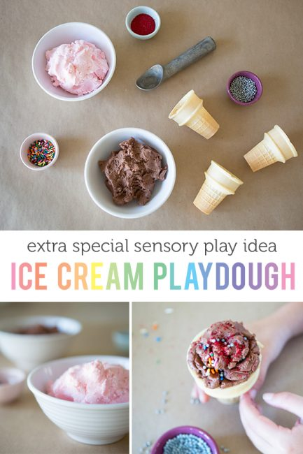Super Special Sensory Play: Ice Cream Playdough
