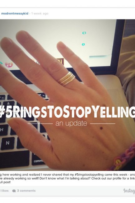 "Parenting: A ""5 Rings To Stop Yelling Update"""