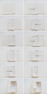 how to fold cloth wipes