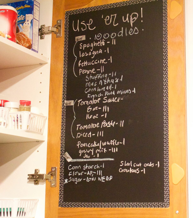 Such a great idea to stop wasting money on food - She keeps two lists in her kitchen and the other one is just as smart as this one!
