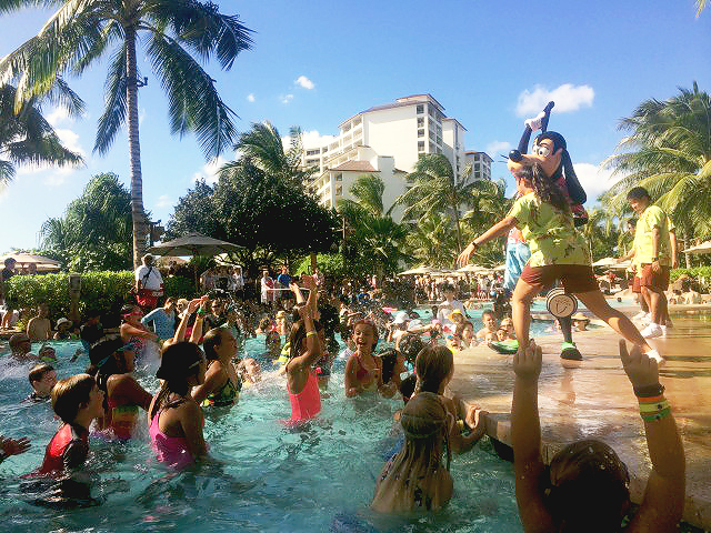 Pool party at Disney's Aulani Hawaiian Resort