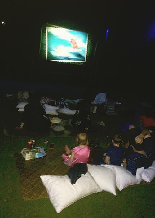 Outdoor movies at Disney's Aulani Hawaiian Resort