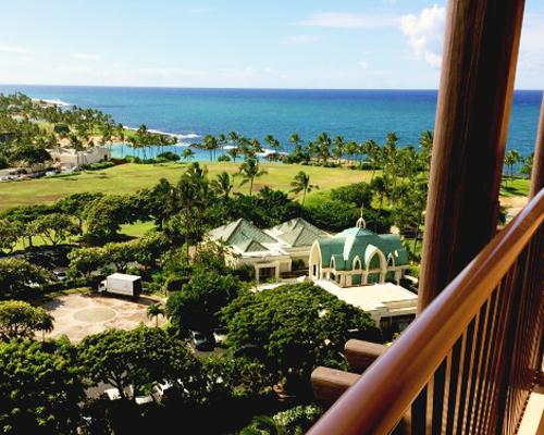 balcony view from One bedroom villa at Disney's Aulani Hawaiian Resort