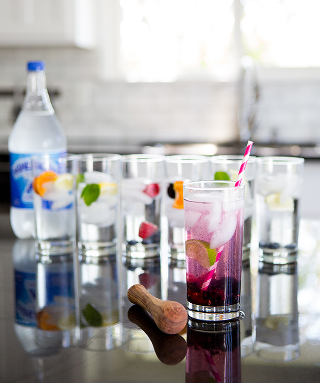 7 fruit infused sparkling water recipes - one for each day of the week!
