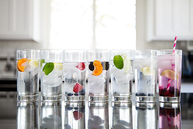 self care 7 days of fruit infused sparkling water