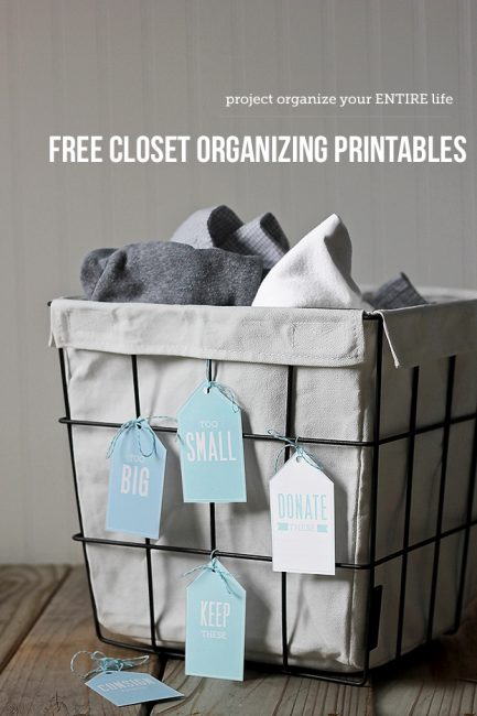 POYEL: Free Closet Sorting Printables