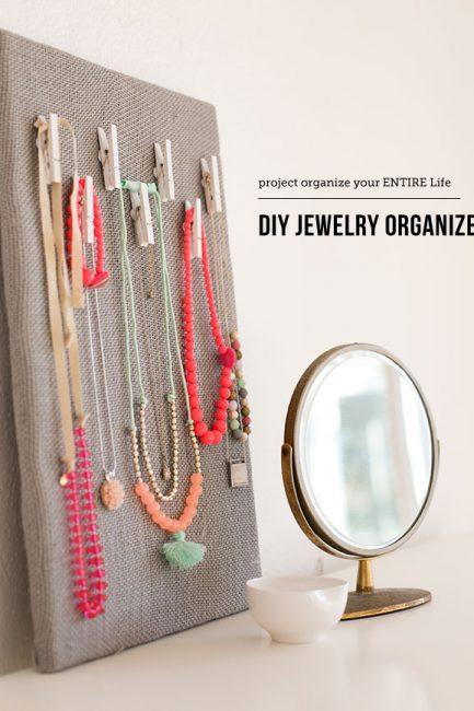 DIY Jewelry Organization Board