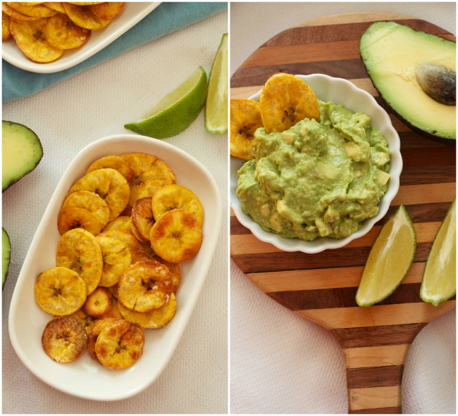 Healthy Snack: Homemade Plantain Chips and Guacamole Recipe