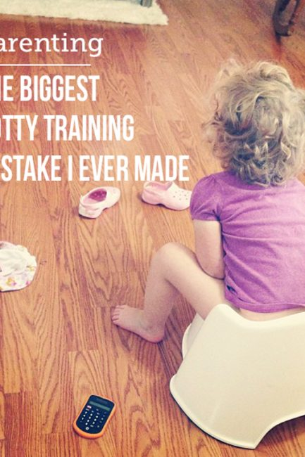 The Biggest Potty Training Mistake I Ever Made