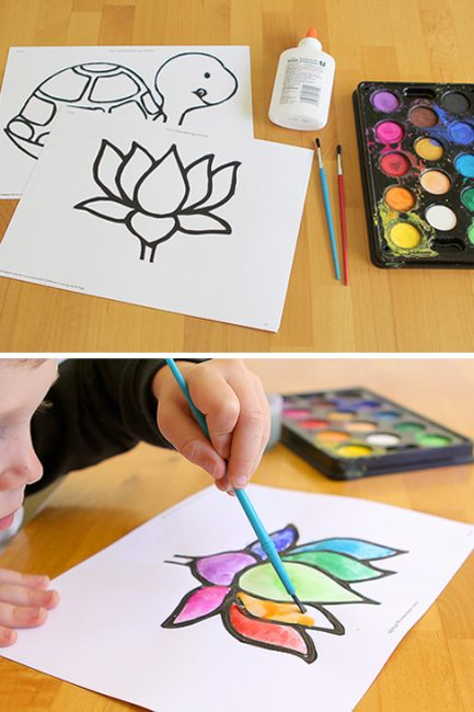 Super Simple Art: Stained Glass Paintings