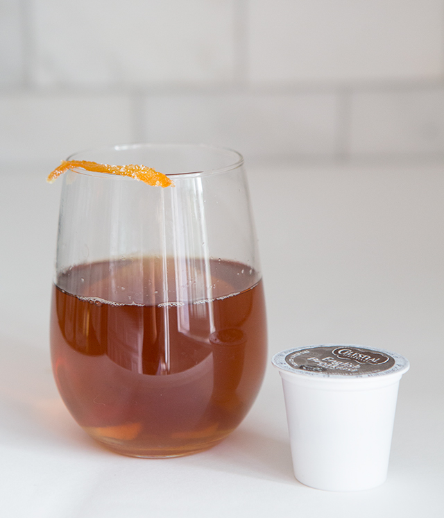 Candied Ginger Tea Recipe - A super easy way to treat yourself to something fancy at the end of a long day!