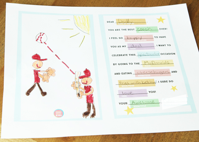 Free Mad Libs Card printable - great for Mother's Day, Father's Day, Teacher Appreciation and anything else your kids want to celebrate in a silly and fun way!
