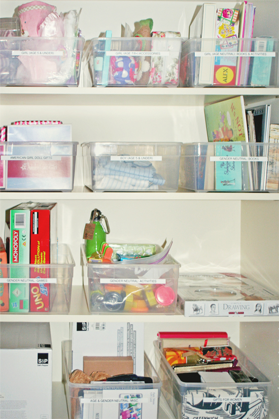 Setting up a Toy Gift Closet - a surprising way to actually save money.