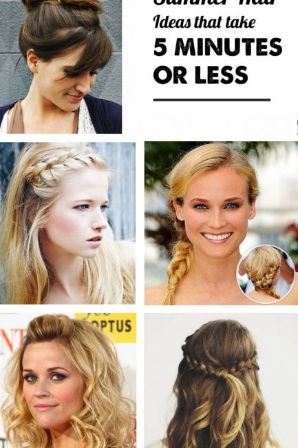 15 summer hair styles that take 5 minutes or less!