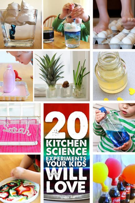 STEM: 20 Kitchen Science Experiments Your Kids Will Love