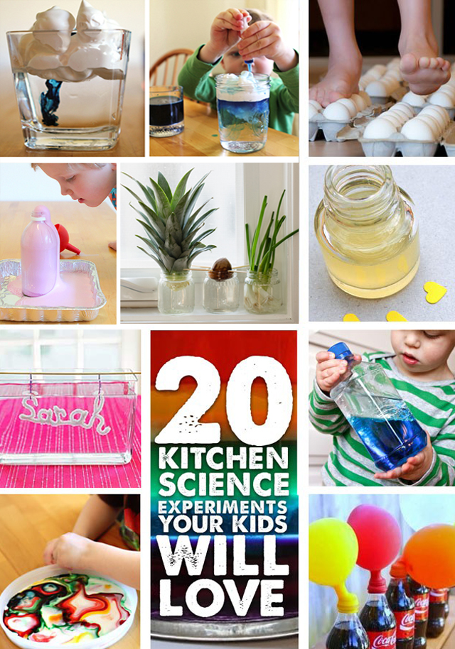 STEM: 20 Kitchen Science Experiments Your Kids Will Love - Modern ...