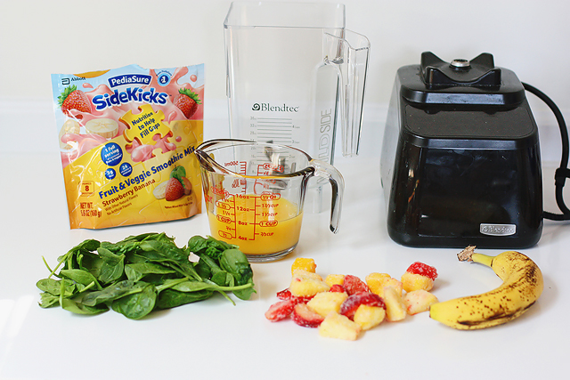 Energy smoothie recipe using both fruits and veggies that's really kid-friendly!