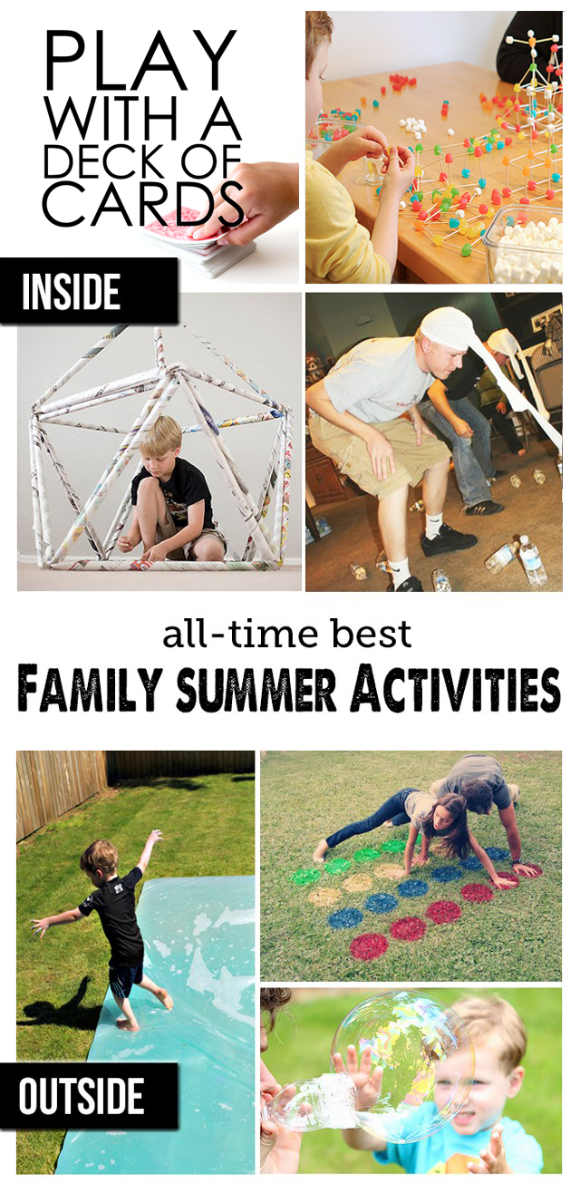 Best Summer Outdoor Activities and Summer Indoor Activities for Summer - two great lists! The obstacle course and min-it-to-win-it games are going on our summer bucket list for sure! #QuakerUp #spon