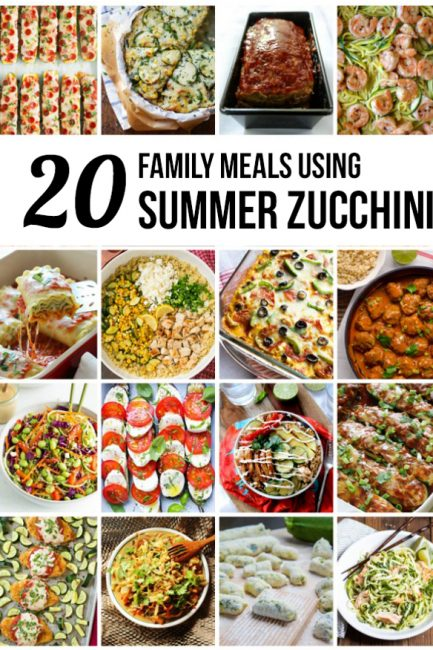 20 Family Meals Using Zucchini