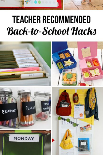 Round Up:  Teacher Recommended Back-to-School Hacks