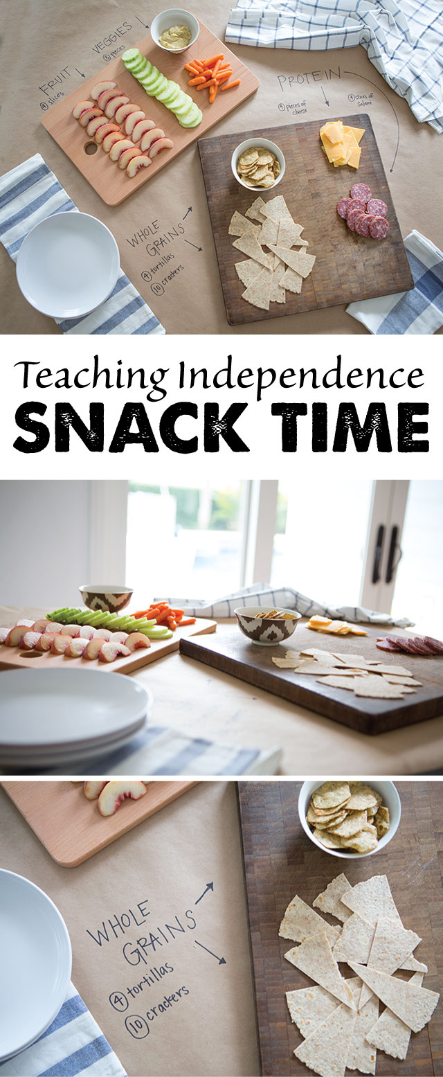 Teaching Kids to Feed Themselves - another way I'm planning on teaching the kids to be more self-sufficient this school year!
