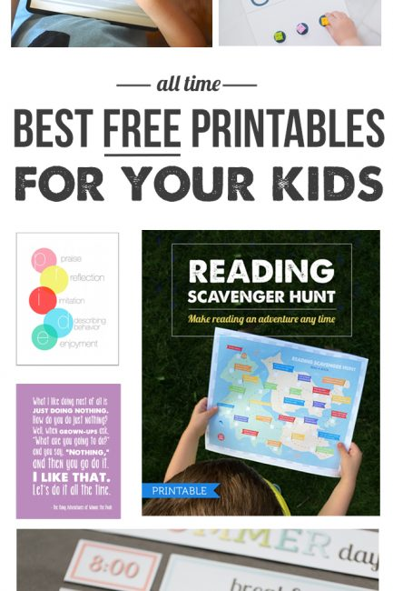 Round Up: Our Most Useful FREE Printables for Your Kids
