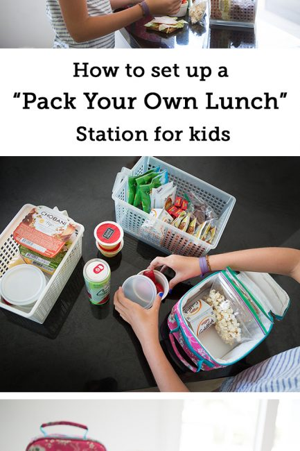 How to Set up a Healthy Pack-Yourself Lunch Station for Kids