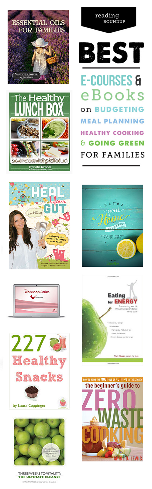 The Best eCourses & eBooks for living a healthier life as a family - SO MANY great resources here!!